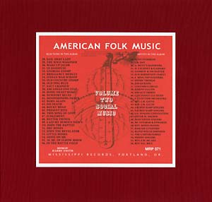 Anthology of American Folk Music Volume 2 lp (Mississippi)
