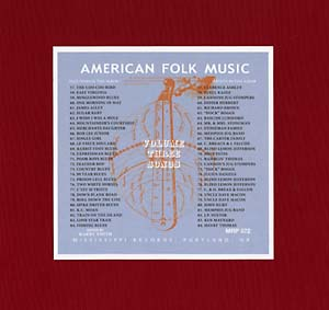Anthology of American Folk Music Volume 3 lp (Mississippi)
