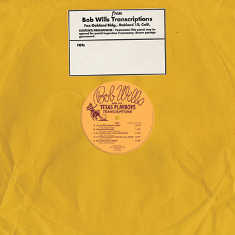 Bob Wills - Transcriptions lp (Real Gone Music)