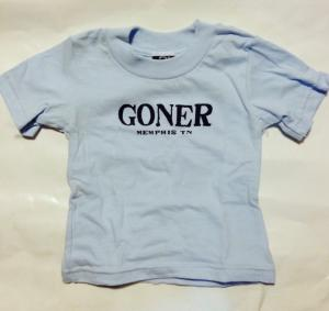 Goner T-shirt BABY SIZE 6 month Navy on Blue - FREE SHIPPING