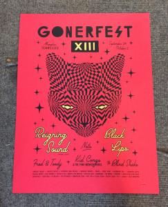 GONERFEST 13 POSTER - INCLUDES US SHIPPING!