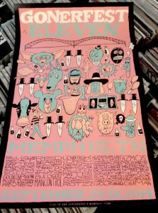 Gonerfest 11 Poster by Jeff Mahannah / 5 In 1