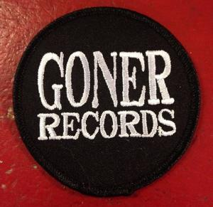 "Goner Patch - 3"" White On Black Cloth Patch!"