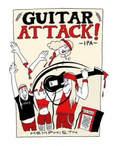 GUITAR ATTACK IPA Shirt Size M- Free US Ship!