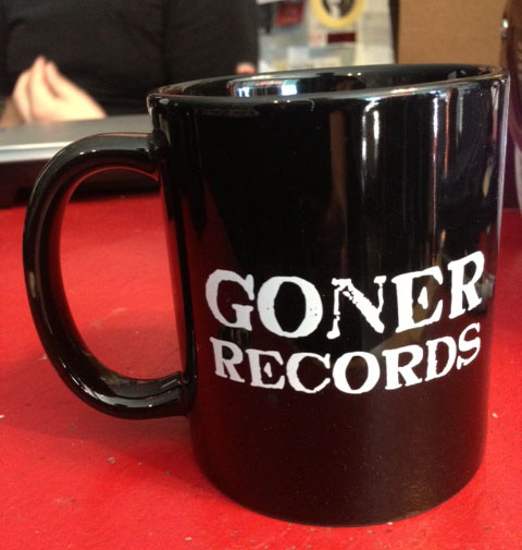 Goner Records Coffee Cup - BLACK Postage Paid in the USA!