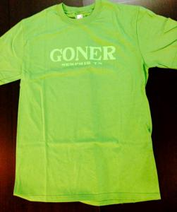 Goner T-Shirt Lime on Green Men's Large - Free US Ship!