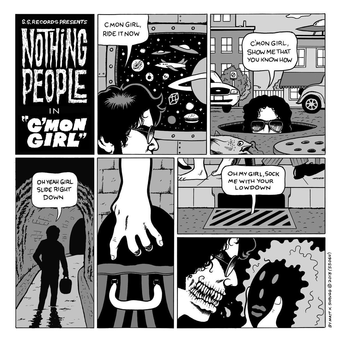 "Nothing People - C'mon Girl 7"" (S.S. Records)"