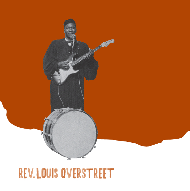 "Rev. Louis Overstreet - Blessings Of All Kinds 7"" (Little Axe)"