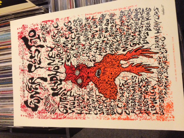GONERFEST 10 Silkscreened Poster by Timmy Vulgar / 5 In One