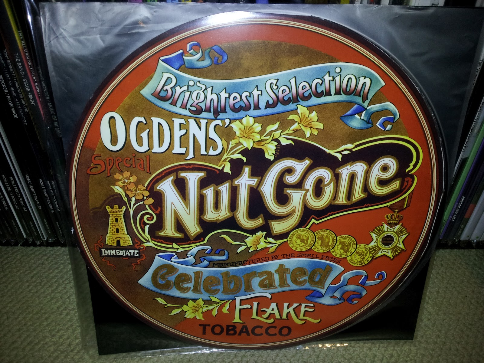 Small Faces- Ogden's Gone Nut Flake pic disc lp (Charly, UK)