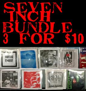 GONER SEVEN INCH BUNDLE! 3 for $10 Postage Paid IN THE US!