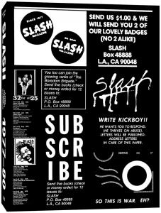 Slash: A Punk Magazine from LA 77-80 (Hat and Beard)