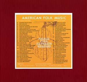 Anthology of American Folk Music Volume 4 lp (Mississippi)