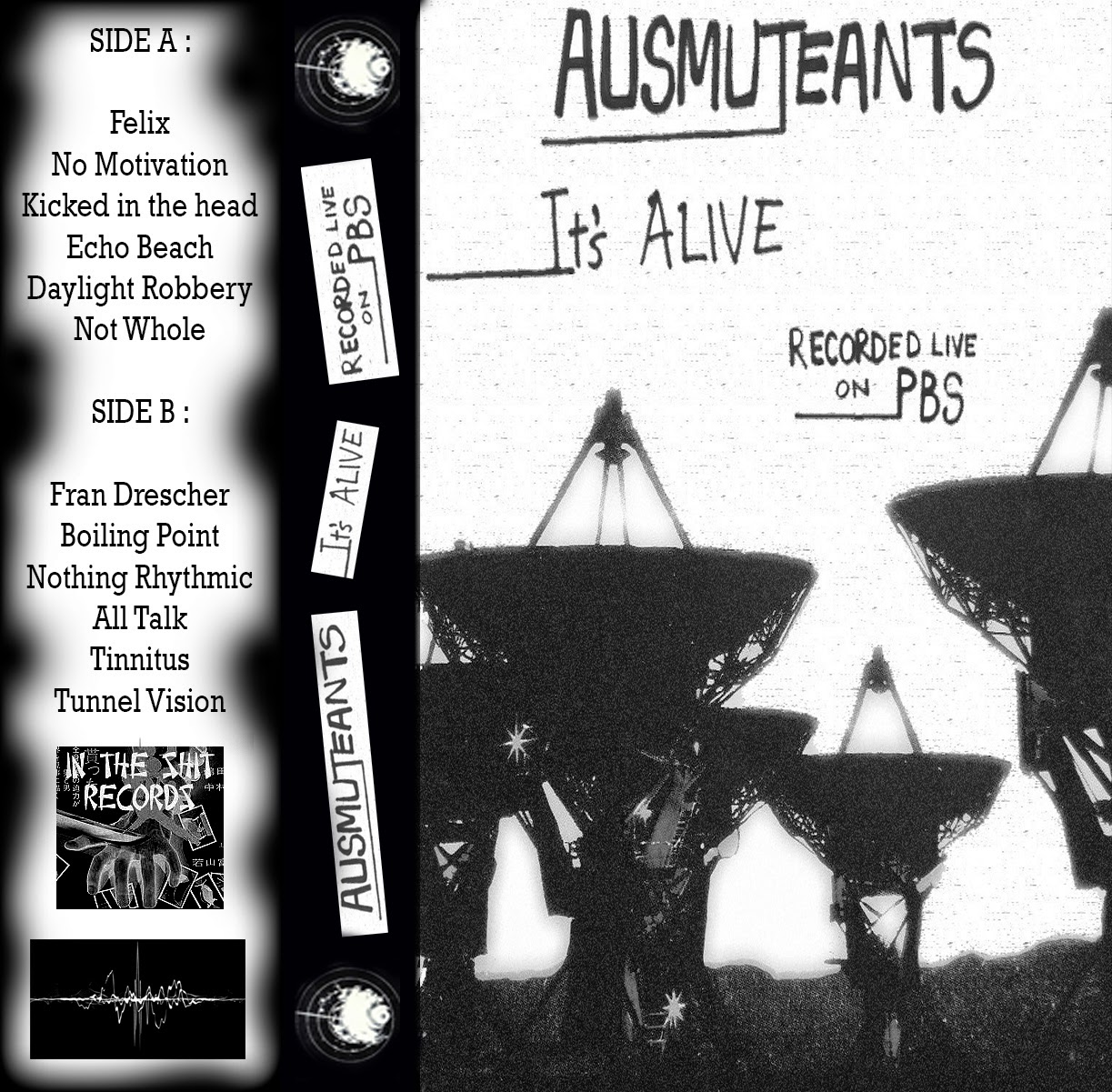 Ausmuteants - It's Alive Recorded Live On PBS cassette (In The S