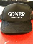 Goner Cap - White Lettering on Black hat