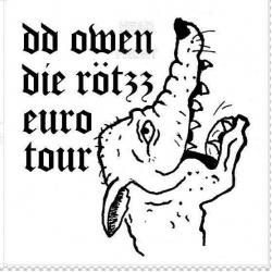 "DD Owen / Die Rotzz - Euro Tour Split 7"" (Red Lounge"
