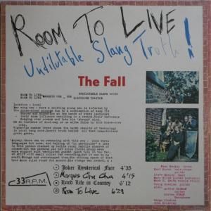 The Fall - Room to Live lp (Superior Viaduct)