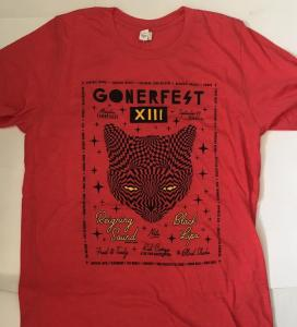 Gonerfest 13 T-Shirt - Red - Size L FREE US SHIPPING