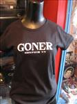 Women's Goner T-Shirt White on Black large Free US Shipping!