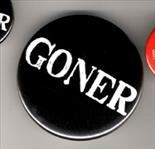 "Goner 3"" Button - White On Black"