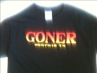 "Goner T-Shirt - ""Tequila Sunrise"" Black Men's S -Free US Ship!"