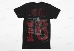 GONERFEST 16 T-Shirt - BLACK - MENS 3X - FREE US SHIPPING