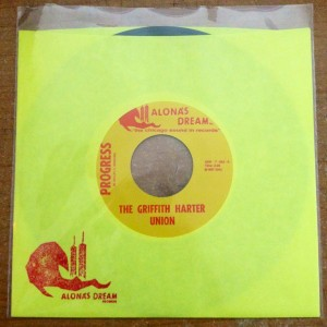 "Griffith Harter Union - Progress 7"" (Alona's Dream Records)"