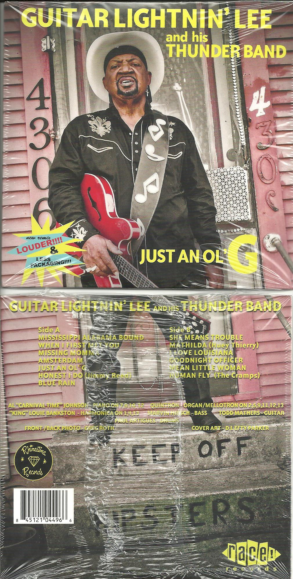 Guitar Lightnin' Lee - Just An Ol' G cd (Rhinestone/Race)
