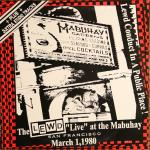 The Lewd - Live at the Mabuhay lp (Subterranean)