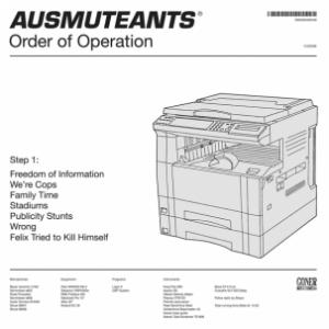 Ausmuteants - Order of Operation lp WHITE VINYL (Goner Records)