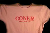 Goner T-Shirt - Hot Pink on Pink size Women's L - Free Shipping!