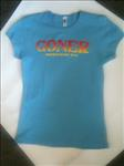 "Goner T-Shirt ""Tequila Sunrise"" blue - Women's S - Free US Ship!"
