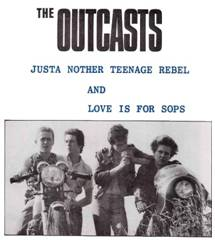 "Outcasts - Just Another Teenage Rebel 7"" (Paramecium )"