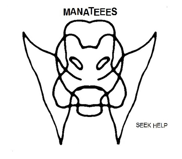 Manateees - Seek Help 7' (Total Punk)