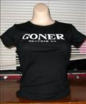 Goner Girl T-Shirt White on Black- Small - Free Shipping!