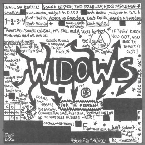 "Widows - Wall of Berlin 7"" (Svart FINLAND)"
