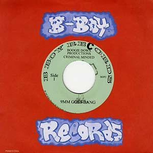 "Boogie Down Productions - 9mm Goes Bang 7"" (B-Boy Records)"