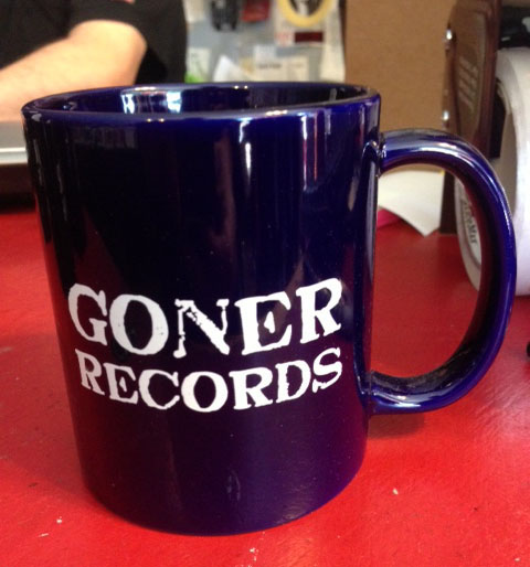 Goner Records Coffee Cup - DARK BLUE Postage Paid in the USA!