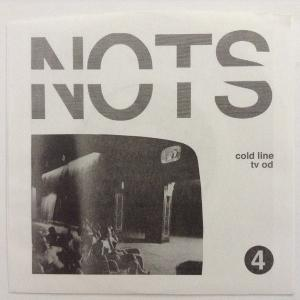 "Nots - Cold Line / TV OD 7"" (Goner) BLACK VINYL"