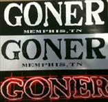 Goner Records Bumper Sticker! White on Black - Click Image to Close