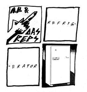 "Andy Human & The Reptoids - Refrigerator 7"" (Total Punk)"