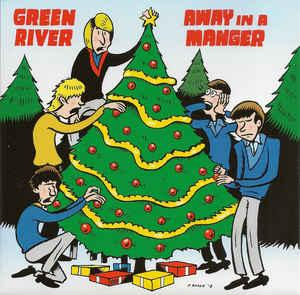 "Green River/U-Men - Away In A Manger RED WAX 7"" (Sub Pop)"