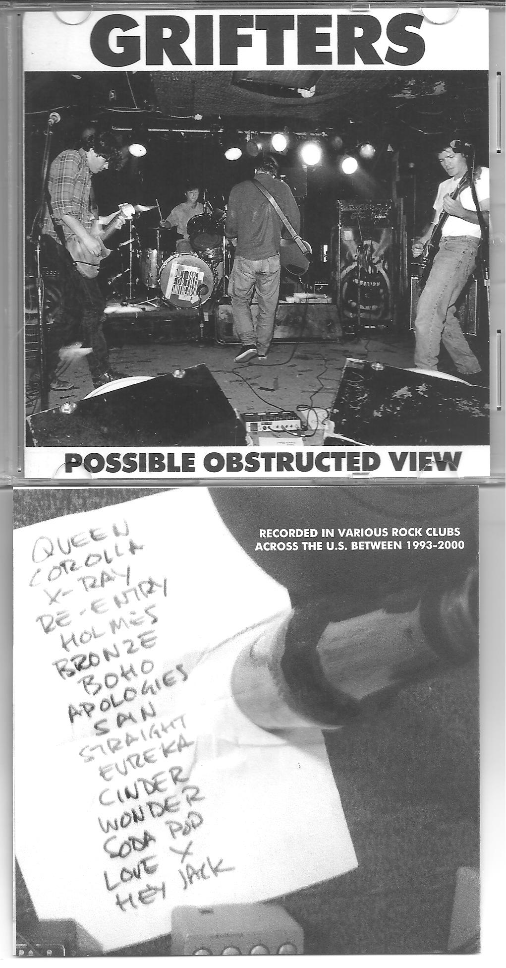 Grifters - Possible Obstructed View cdr (No Label)