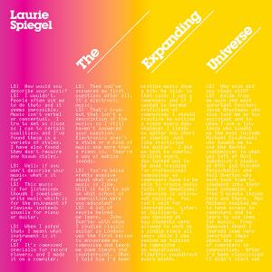 Laurie Spiegel - The Expanding Universe lp (Unseen Worlds)
